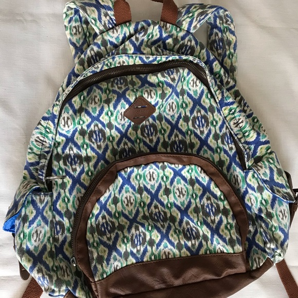 Mad Love Handbags - Mad Love Backpack with Tribal Design and pockets